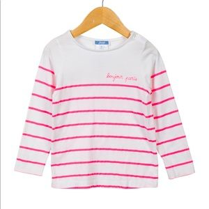 Jacadi Striped Bonjour Paris Long Sleeve Top